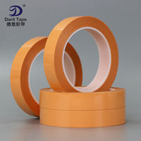 Orange PET high temperature single-sided tape No residue removable orange tape fax printer tape 66 meters