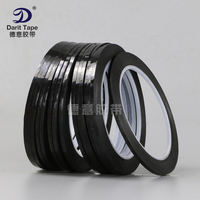 Black high temperature tape Whiteboard line border glue Mara tape PET film shading tape Superfine 3mm