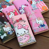 韩版卡通可爱kt猫搭扣折叠长款钱包小女孩学生零钱包儿童钱夹卡包