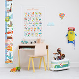 World map wall sticker wall clock wall sticker children study area layout overall decoration