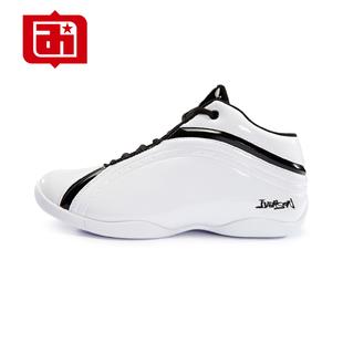 艾弗森超火篮球鞋低帮缓震耐磨男运动鞋太极2代白色学生比赛战靴