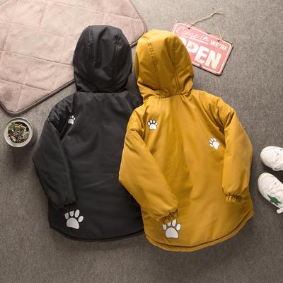 冬季新款儿童棉衣男童加厚夹棉中长款棉服男宝宝外套童装韩版潮款