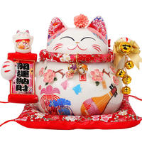 Lucky Cat Decoration Creative Size Japan Fortune Cat Savings Piggy Bank Cashier Shop Opening Gift