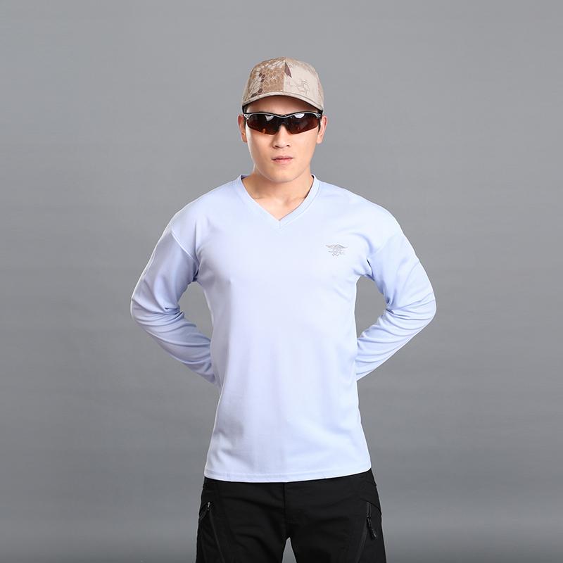 户外短袖T恤男军迷作战紧身速干长袖V领短袖特种兵511圆领长袖T桖