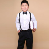 Children's dress costumes boys increase fat version long-sleeved performance clothes fat boy host piano performance set