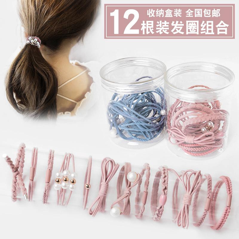 韩国小清新森女系发圈珍珠发绳.