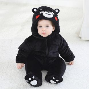 婴儿棉衣外套连体哈衣0-1岁男女宝宝卡通造型哈衣小儿童外出服潮2