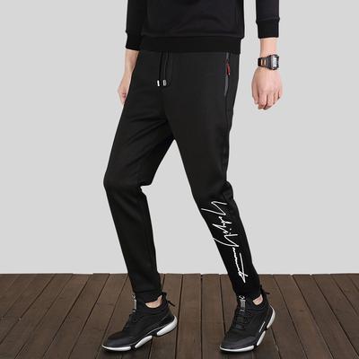 2018男裤子夏季男士宽松长裤薄款运动修身男装韩版潮流夏天休闲裤