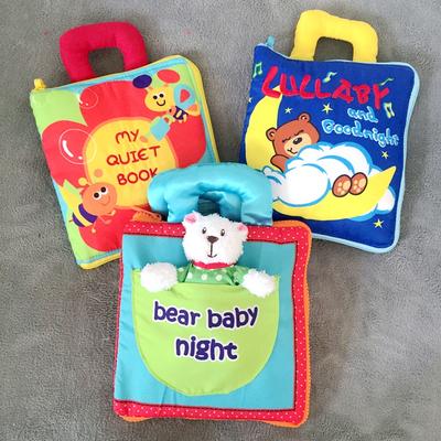 锻炼动手能力蒙氏早教婴儿3D立体布书宝宝启蒙特梭利益智布玩具