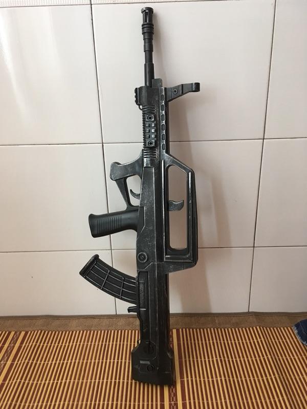 突击步枪 非电动连发仿真软弹枪可发射子弹模型玩具