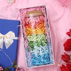 许愿纸情书胶囊信纸写情话的小纸条星星瓶纸许愿瓶生日礼物男女友