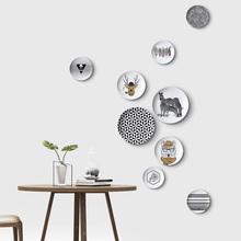 飾盤 飾掛盤畫個性 小清新客廳臥室壁飾掛盤裝 北歐簡約黑白創意裝