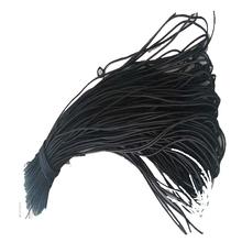 黒の伸縮性のあるロープの服カヤックパドルローイングアクセサリー荷物スポーツとレジャーアウトドアゴムバンド5 mmの厚さ