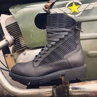 新款马丁靴男真皮复古英伦男靴子冬季男士短靴拼接皮靴高帮潮男鞋