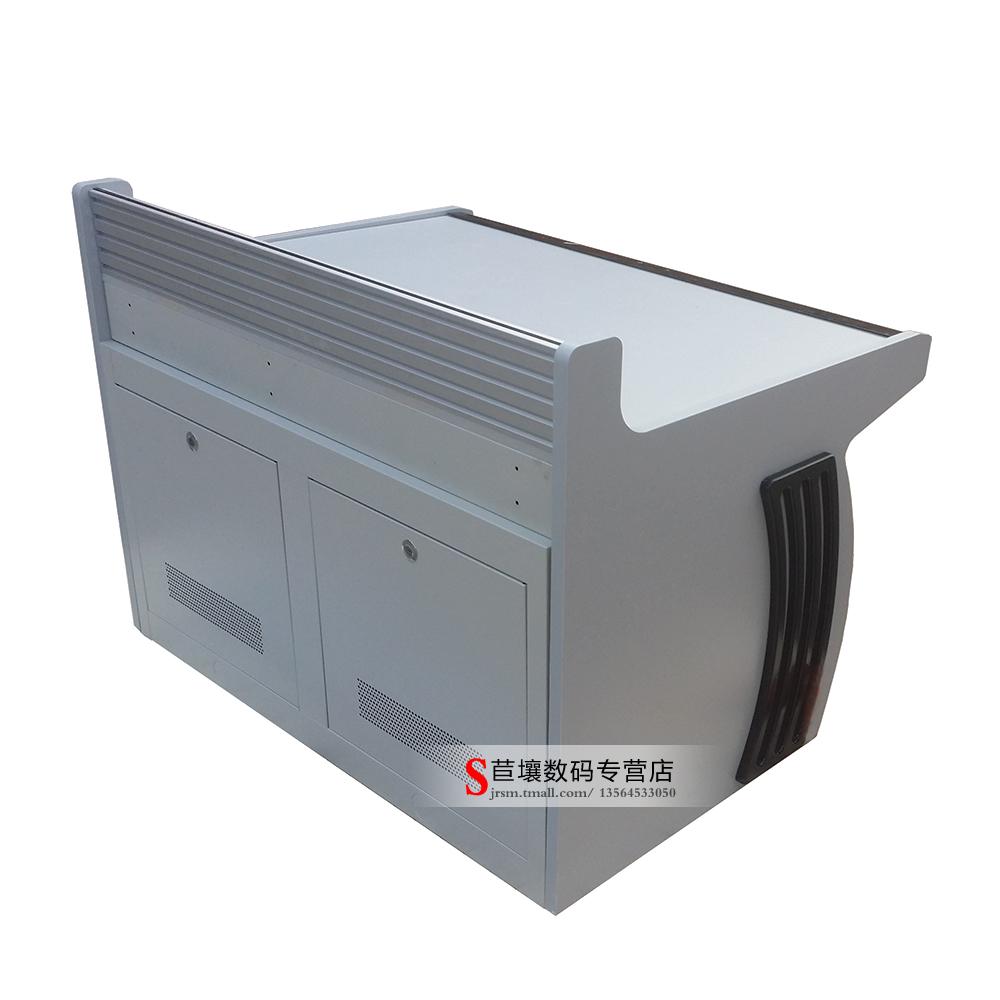 双联操作台 铝合金背板 可接支架外挂显示器 二联监控台控制台