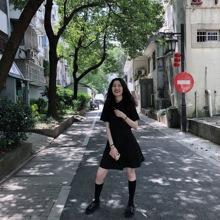 女装 裙子小个子可爱心机小黑裙短款 连衣裙赫本 新店九折 酷酷风格图片
