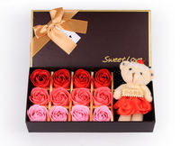 Creative Valentine's Day Gift Corporate Promotions Gifts Soap Roses Gift Box Bear Birthday Marriage Return
