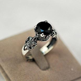 复古黑玛瑙戒指
