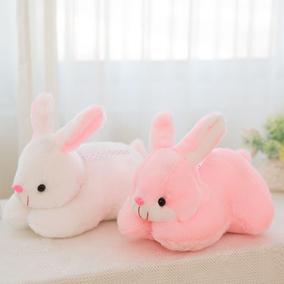 汽车内饰品摆件公仔车载后窗布娃娃可爱小白兔子毛绒玩具抱枕玩偶