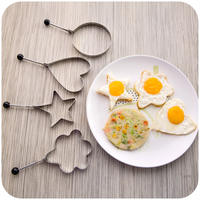 Home Home Stainless Steel Omelette Creative Steamed Eggs Heart Shaped Abrasives Fried Eggs Model Love Bento Mould