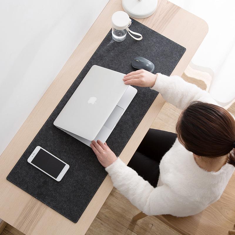 居家家 毛毡长款加厚鼠标垫游戏电脑桌垫 桌面键盘手托防滑护手垫