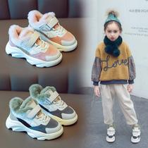 男童鞋子2018新款秋冬季小学生加绒鞋男孩儿童大棉鞋中大童运动鞋