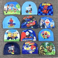 2-15 years old children swimming cap cute boys and girls elastic comfortable cloth cap baby swimming cap