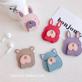 Earphone wire winding device cartoon cute data cable hub personalized creative storage bag winding trend