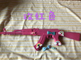 Hand-made Lolita Jedi survival AK47 eat chicken ins props pink soft sister Harajuku machine gun COS decoration photography