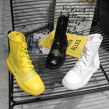 2019春季新款韩版镂空透气系带网红超火显瘦短靴中筒马丁靴女鞋潮