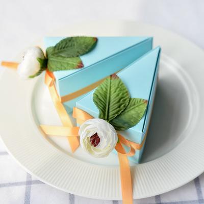Miss xiu❥原创抖音喜糖盒Tiffany蓝色婚礼回礼蛋糕盒[晴朗夏日]