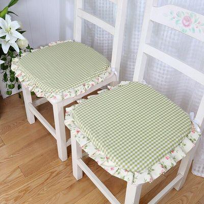 马蹄坐垫梯形座垫防滑椅子垫子夏季办公室透气家用餐桌椅垫带绑带