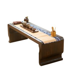 新款仿古琴桌古筝桌榻榻米桌矮茶几炕桌炕几曲腿私塾国学课桌实木