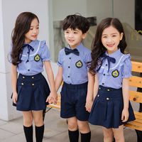 Primary school uniforms suit summer short-sleeved middle school students British college wind children's graduation photo kindergarten class service clothing