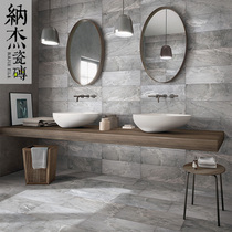 Najie simple modern antique tiles bathroom tiles non-slip gray cement brick kitchen bathroom floor tiles wall tiles