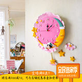 Creative moon wall clock mute cartoon children's room wall clock wall clock cute bedroom art wall charts decorative clock table