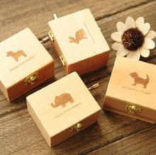 天空之城木质手摇八音盒音乐 盒儿童创意生日礼物送女生闺蜜情人节