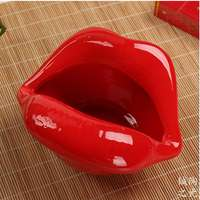 Cute cartoon ashtray lips ceramic ashtray creative personality trend ashtray fashion home mini gift