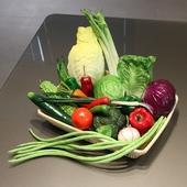 wo+高仿真PU假蔬菜逼真手感青菜芹菜大白菜包菜西兰花葱超市装饰