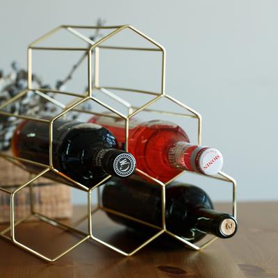 妙HOME北欧金属红酒架摆件创意葡萄酒架子家用客厅酒柜展示架简约