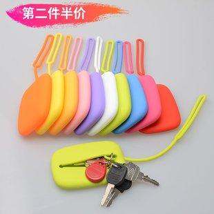 方形硅胶钥匙包 日韩糖果色钥匙收纳包 创意公交卡包证件饭卡套