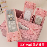 Set-top box remote control sleeve protective cover remote control set fabric TV air conditioner remote control dust cover