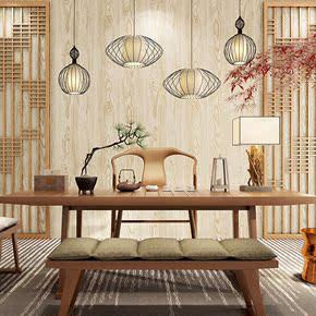 现代个性木纹墙纸 中式怀旧仿古榻榻米客厅电视沙发背景壁纸复古