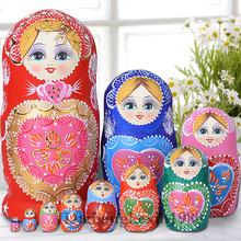 无甲醛味 椴木 手绘俄罗斯套娃10层1051 进口正品 专业套娃店