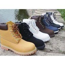 经典大黄靴保暖韩版户外牛皮靴男女登山鞋防滑雪地靴工装靴军靴
