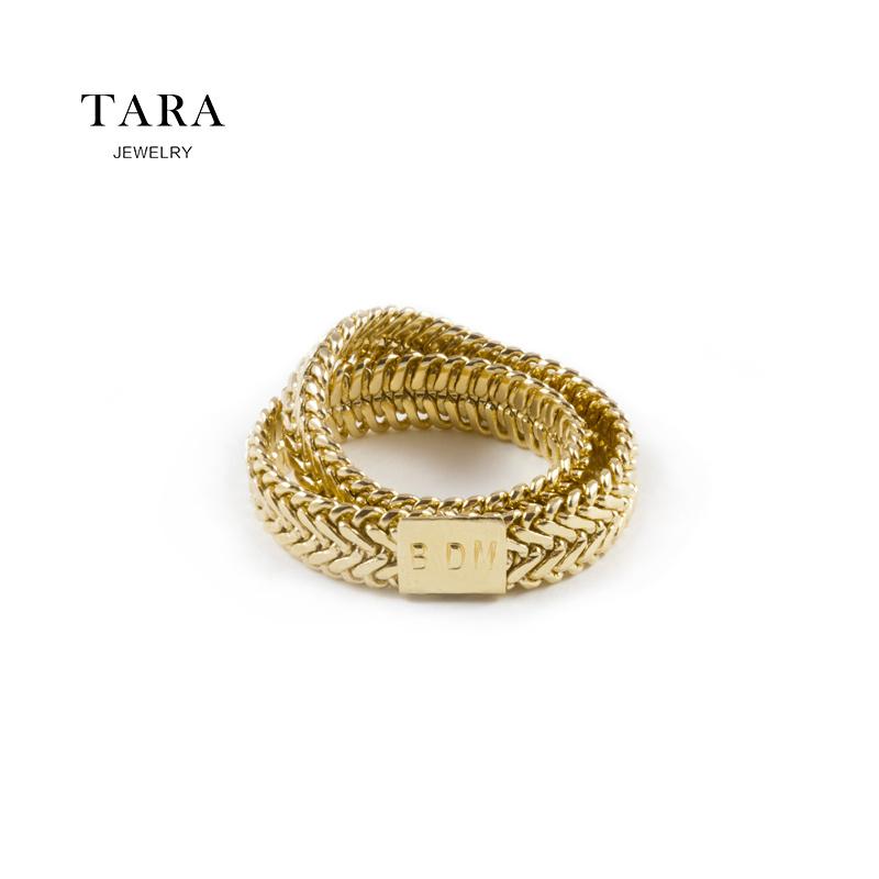 法国BDM蛇骨链条食指戒指女时尚网红ins日韩潮人个性夸张复古设计图片