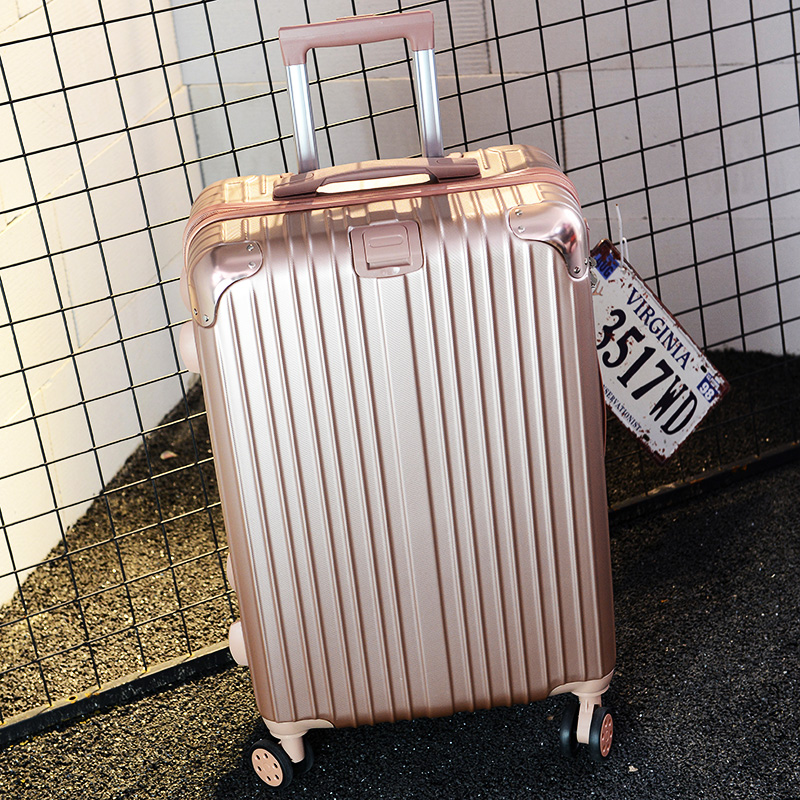 小皮旅行箱女拉杆