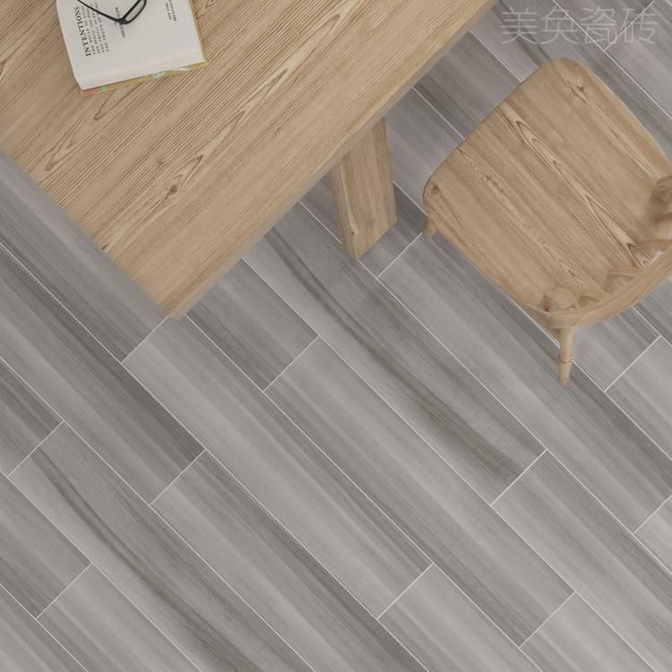 灰色北欧木纹砖仿木地板砖客厅瓷砖卧室阳台瓷砖地砖地面砖木色