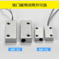 MC-52 magnetic switch wired iron door magnetic sensor door and window alarm magnetic induction switch normally open normally closed