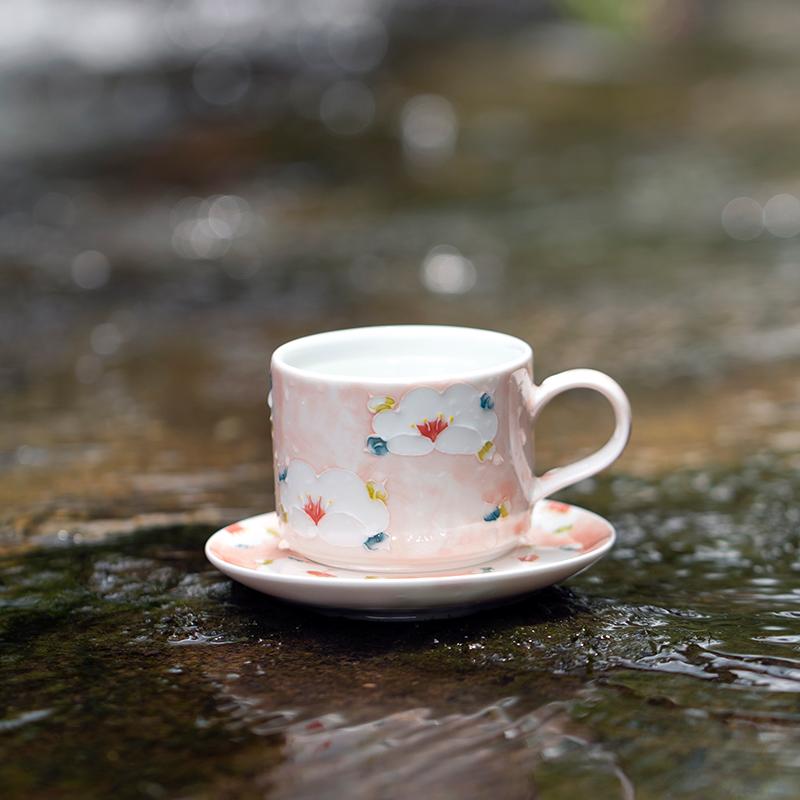山水间山花手绘咖啡杯,200元以内实用礼物